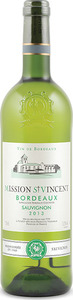Mission St. Vincent Sauvignon Blanc 2013, Ac Bordeaux Bottle
