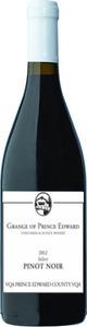 The Grange Of Prince Edward Select Pinot Noir 2012, VQA Prince Edward County, Estate Btld. Bottle