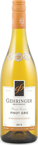 Gehringer Brothers Private Reserve Pinot Gris 2013, BC VQA Okanagan Valley Bottle