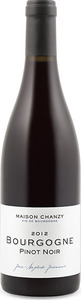 Maison Chanzy Bourgogne Pinot Noir 2012, Ac Bottle