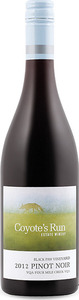 Coyote's Run Black Paw Vineyard Pinot Noir 2012, VQA Four Mile Creek, Niagara Peninsula Bottle