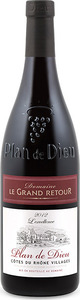 Domaine Le Grand Retour Plan De Dieu 2012, Ac Côtes Du Rhône Villages Bottle