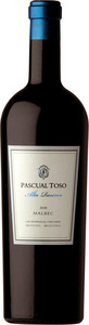 Pascual Toso Alta Reserve Malbec 2013, Barrancas Vineyard, Mendoza Bottle