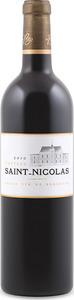 Château Saint Nicolas 2009, Ac Cadillac Côtes De Bordeaux Bottle