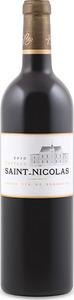 Château Saint Nicolas 2010, Ac Cadillac Côtes De Bordeaux Bottle