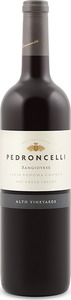 Pedroncelli Alto Vineyards Sangiovese 2012, Dry Creek Valley, Sonoma County Bottle