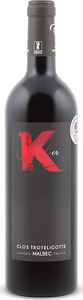 Clos Troteligotte K Or Malbec 2012, Ac Cahors Bottle