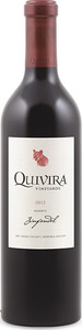 Quivira Reserve Zinfandel 2012, Dry Creek Valley, Sonoma County Bottle
