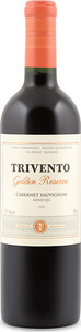 Trivento Golden Reserve Cabernet Sauvignon 2012, Uco Valley, Mendoza Bottle