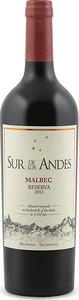 Sur De Los Andes Reserva Malbec 2012, Mendoza Bottle
