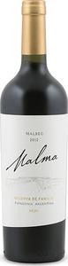 Malma Reserva Malbec 2012, Patagonia Bottle
