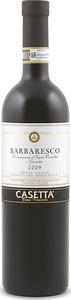Casetta Barbaresco 2009, Docg Bottle