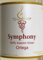 Symphony Vineyard Ortega 2014 Bottle