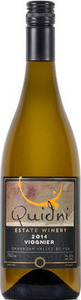 Quidni Viognier 2013, BC VQA Okanagan Valley Bottle