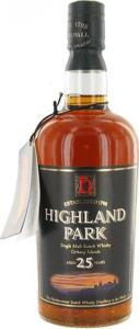 Highland Park 25 Year Old Orkney Islands Single Malt Bottle