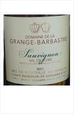 Domaine De La Grange Barbastre Sauvignon 2013, Igp Bottle