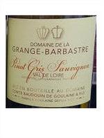 Domaine De La Grange Barbastre Pinot Gris Sauvignon 2013, Igp Bottle