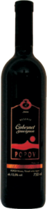 Popov Reserve Cabernet Sauvignon 2008, Tikvesh Bottle