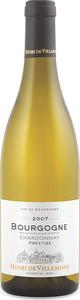 Henri De Villamont Prestige Bourgogne Chardonnay 2007, Ac Bottle