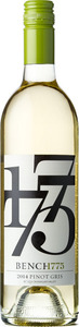 Bench 1775 Pinot Gris 2014, VQA Okanagan Valley Bottle