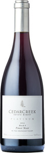 CedarCreek Platinum Block 4 Pinot Noir 2013, BC VQA Okanagan Valley Bottle
