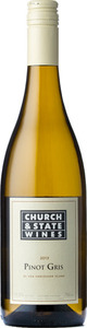 Church & State Vancouver Island Pinot Gris 2013, BC VQA Vancouver Island Bottle