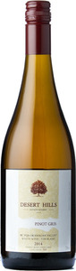 Desert Hills Pinot Gris 2014, BC VQA Okanagan Valley Bottle