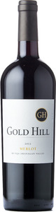 Gold Hill Merlot 2012, BC VQA Okanagan Valley Bottle