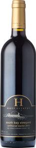 Huff Estates South Bay Merlot Unfiltered 2012, Prince Edward County Bottle