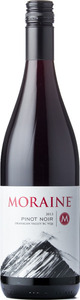 Moraine Winery Pinot Noir 2013, BC VQA Okanagan Valley Bottle