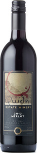 Quidni Merlot 2013, BC VQA Okanagan Valley Bottle