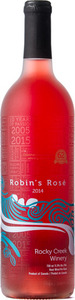 Rocky Creek Robin's Rose 2014, BC VQA Vancouver Island Bottle
