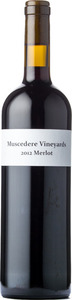 Muscedere Vineyards Merlot 2012, Lake Erie North Shore Bottle