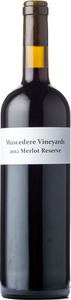 Muscedere Vineyards Merlot Reserve 2012, Lake Erie North Shore Bottle