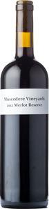 Muscedere Vineyards Merlot Reserve 2012, Lake Erie North Shore Bottle