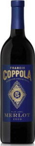 Francis Coppola Diamond Collection Blue Label Merlot 2013, California Bottle