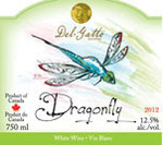 Del Gatto Dragonfly 2013, Prince Edward County Bottle