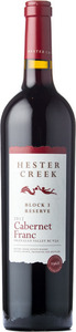 Hester Creek Estate Winery Block 3 Reserve Cabernet Franc 2011, BC VQA Okanagan Valley Bottle