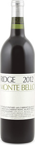 Ridge Vineyards Monte Bello 2012, Santa Cruz Mountains Bottle