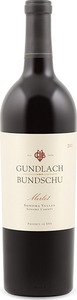 Gundlach Bundschu Merlot 2011, Sonoma Valley, Sonoma County Bottle