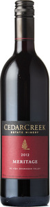 CedarCreek Meritage 2012, Okanagan Valley Bottle