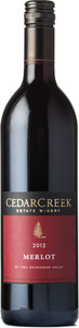 CedarCreek Merlot 2012, BC VQA Okanagan Valley Bottle