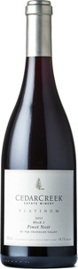 CedarCreek Platinum Block 2 Pinot Noir 2013, BC VQA Okanagan Valley Bottle