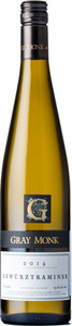 Gray Monk Gewürztraminer 2014, BC VQA Okanagan Valley Bottle