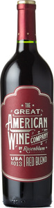 The Great American Wine Company Red Blend 2013, Central Coast Bottle