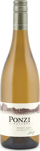 Ponzi Pinot Gris 2014, Willamette Valley Bottle