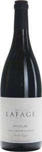 Domaine Lafage Cuvée Nicolas Vieilles Vignes Grenache Noir 2013, Igp Cotes Catalanes Bottle