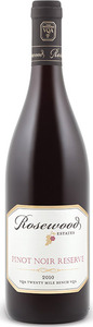 Rosewood Estates Reserve Pinot Noir 2010, VQA Twenty Mile Bench, Niagara Peninsula Bottle