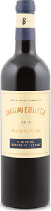 Château Brillette 2010, Ac Moulis En Médoc Bottle