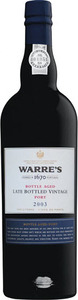Warre's Lbv Bottle Aged Port 2003, Unfiltered, Dop Bottle